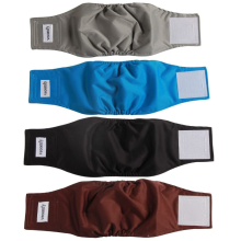 4 Pack Washable Belly Bands for Male Dogs