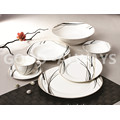 New bone china tableware set  simple design