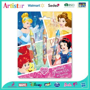 DISNEY PRINCESS blister card 4 Double-sided crayons