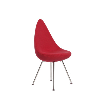 Small Red Fabric Dining Chair