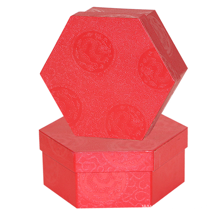 Wholesale Unique Shape Red Gift Packaging Paper Box