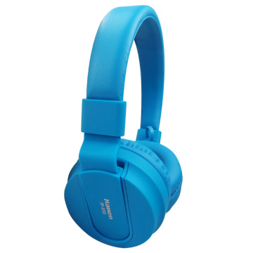 Blue Foldable Stereo On Ear Headphones OEM ODM