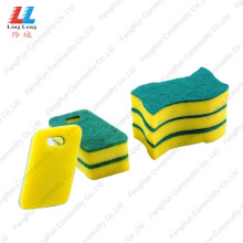 best kitchen cleaner Sponge with Abrasive Scouring Pad