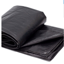 Waterproof black PE square tarp