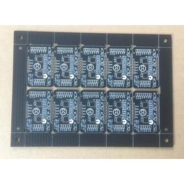 Tabloyên PCB-ê du-alî-xalî Matt 1,2 mm 1OZ reş reş
