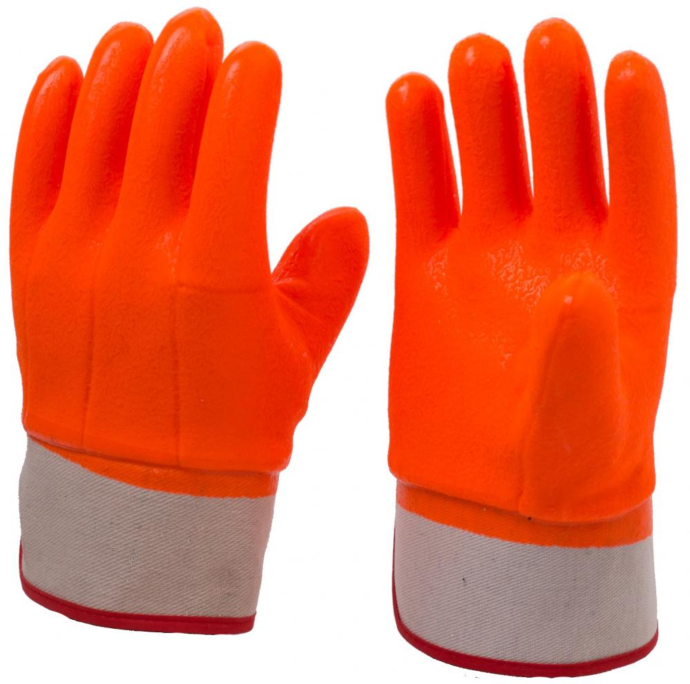 Fluorescent Orange Anti-Cold PVC Coated Gloves