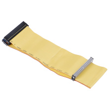 80 Wire 40 Pins PATA/EIDE/IDE Hard Drive DVD Ribbon Cable Yellow 40cm For Dual Devices Telecom Parts