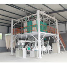 Steel frame 40 tons large flour mill