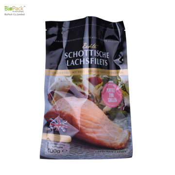 Custom Print Food Grade Flexible Vacuum Bag with Gusset For Fish such as Salmon