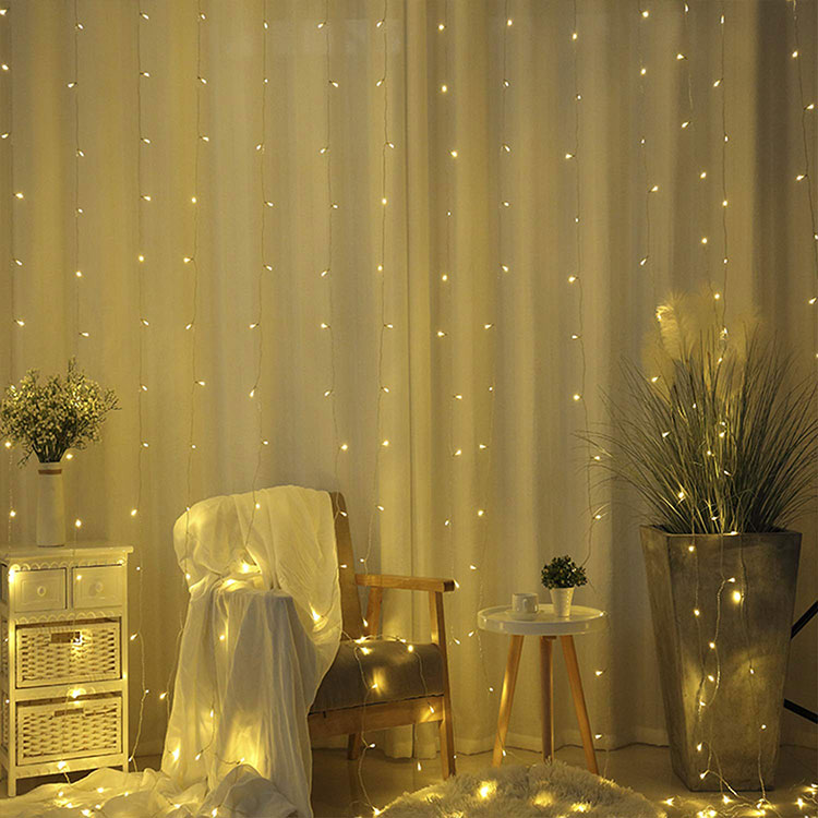 led waterfall curtain lights