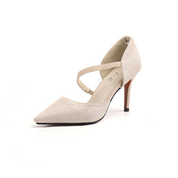 Women Pointed Toe Rubber Pumps Shoes