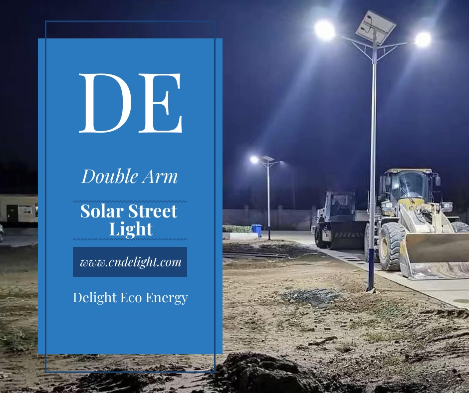double arm solar led street light manufacturer delight eco energy