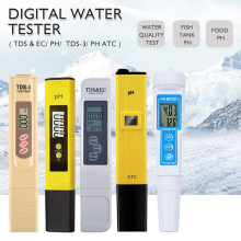 LCD Display Accuracy 0.01ph Digital PH Meter Tester TDS Meter Pen 0-14PH/0-9990PPM for Drinking/Food/Lab PH Water Purity Monitor