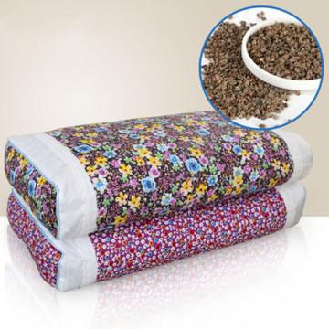 Cotton Buckwheat Husk Pillow Neck Care Pillow Korean Pastoral Small Floral Nap Cervical Pillow Adult