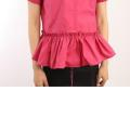 LADIES COLLARED SHORT SLEEVE SHIRT