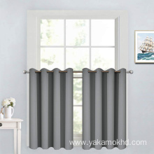 Grey Short Blackout Curtains