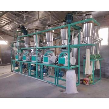 Overhead automatic wheat flour milling machine