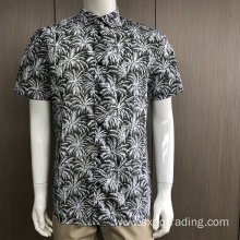 Male TC print short sleeve shirt in summer