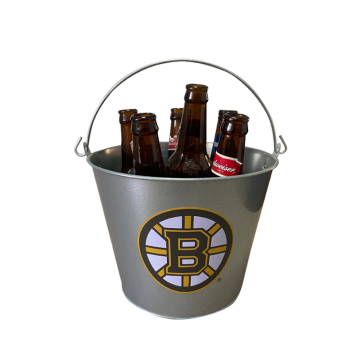 metal ice beer bucket with portable handle