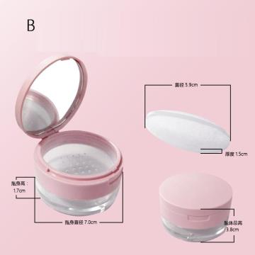 Cosmetics are bottled powder powder powder empty box