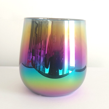 Rainbow Color Stemless Champagne Glasses
