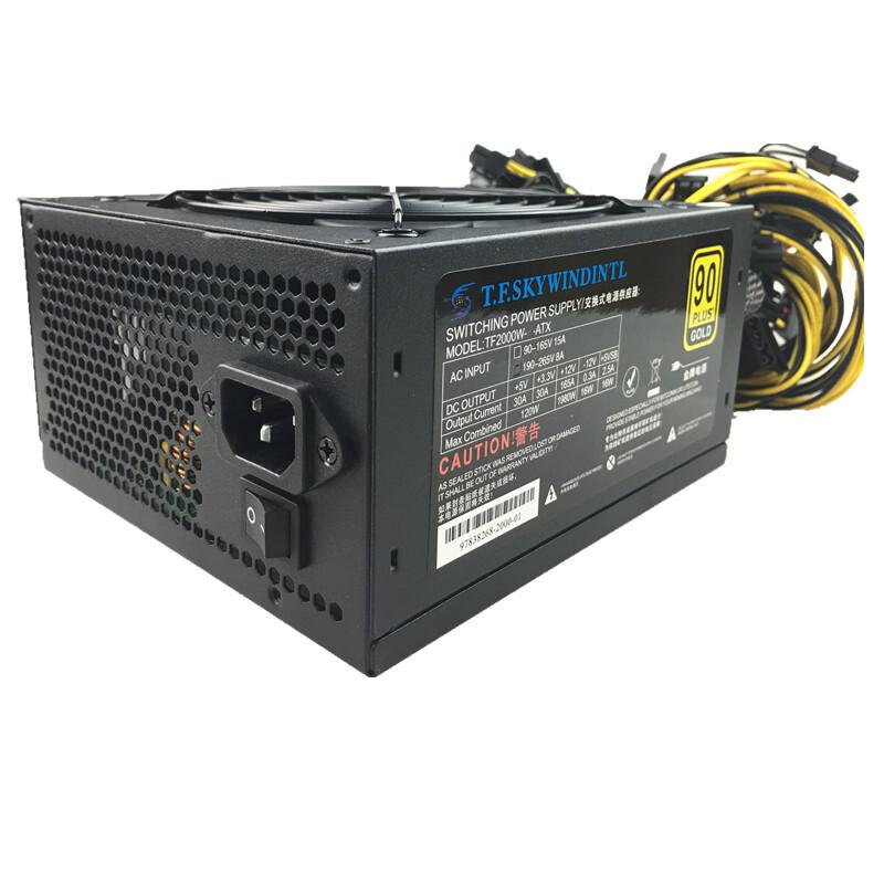 2000W PC Power Supply Computer PSU 2000W ETH ATX Asic Bitcoin Miner Ethereum rx 480 rx 470 rx 570 Mining Power
