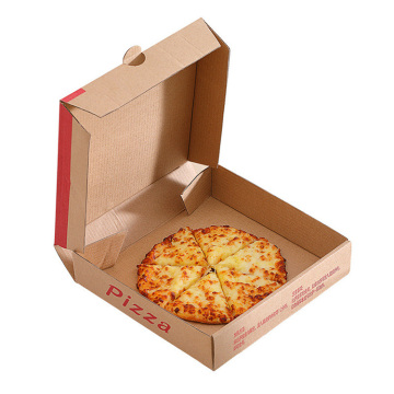 Custom logo 6in/8in/12in brown kraft corrugated pizza box
