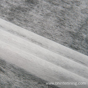 Scatter dot fuse recycled pet fabric nonwoven interlining
