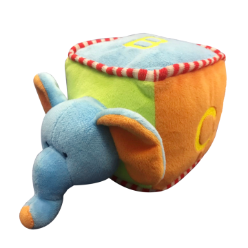 Plush Elephant Soft Dice