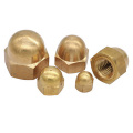 Brass Acorn Hexagon Domed  Nuts