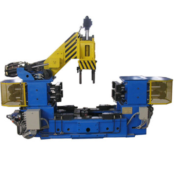 A gravitational die casting machine