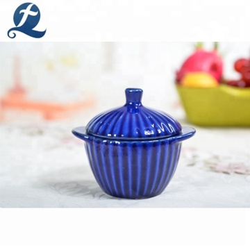 Colorful Painting Small Casserole Ceramic Soup Pot