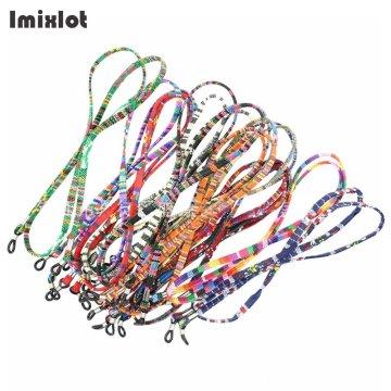5pcs/lot Fashion Eyeglasses Glasses Chain Straps Cotton Sunglasses Chain Neck String Cord Retainer Strap Eyewear Lanyard Holder