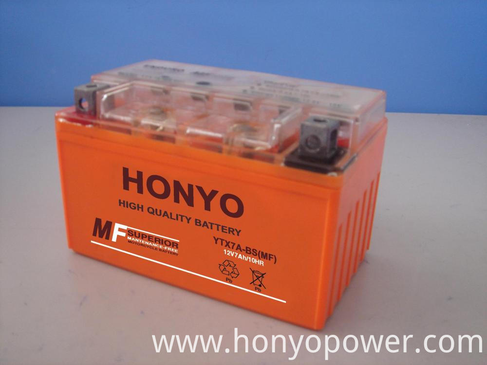 12V 7Ah MF Motorcycle Batteries
