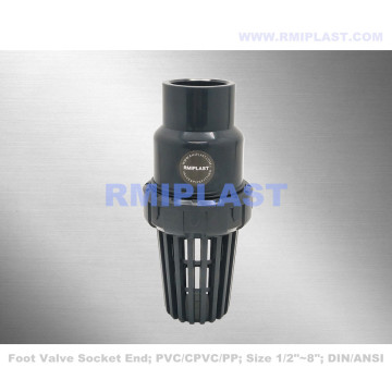 PVC Foot Valve Flange End