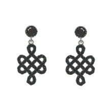 Truelove Knot Sterling Silver Dangle Earrings