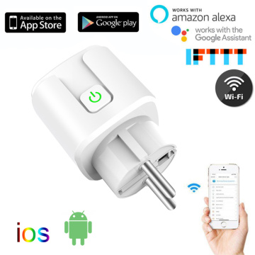Smart WiFi Plug Adaptor 16A Remote Voice Control For HomeKit Power Monitor Socket Outlet Timing Work With Alexa Google Home Tuya