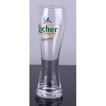 Hand Made Decal Printing 500ml Beer Glass Cup With Many Pattern