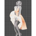 Black And White Glass Mosaic Marilyn Monroe Mural