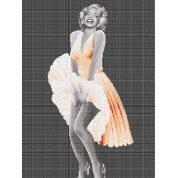 Marilyn Monroe Cover Skirt Classic Action Painting Mural