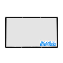 16:9 HD 3D HD Wall Mounted Projection Screen 60/72/84/100/120 inch Projector Screen Fiber Canvas Curtain for Home Theater