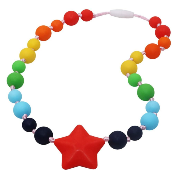 Oral Motor Chewable Silicone Teething Necklace