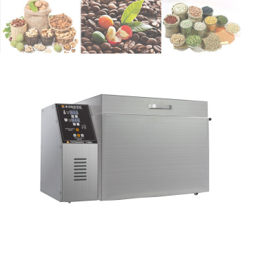 Cocoa Bean Chickpea Macadamia Nut Roasting Machine Peanut Almond Cashew Nuts Roaster Machine