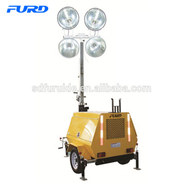 1.8m-7m 4000 Watts Trailer Mobile Led Light Tower With Generator