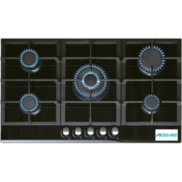 Beko Cooker Black Glass Hob