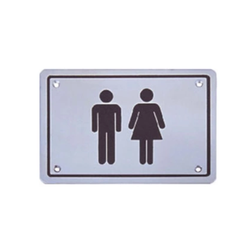Stainless Steel Toilet Sign durable