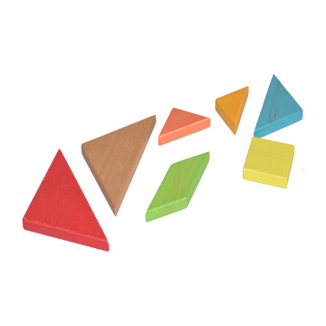 Colorful Wooden Tangram Puzzle Wooden Brain Teaser Puzzle
