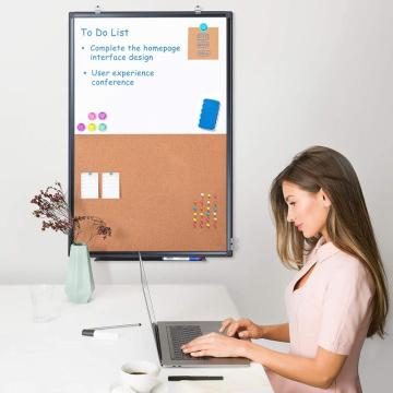 Magnetic WhiteBoard & Bulletin Cork Board with Frame