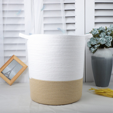 Amazon Hot Sale Cotton Organizer Basket Laundry Basket