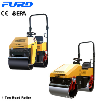 Comply CE 1 ton Ride On Double Steel Drum Vibratory Road Roller